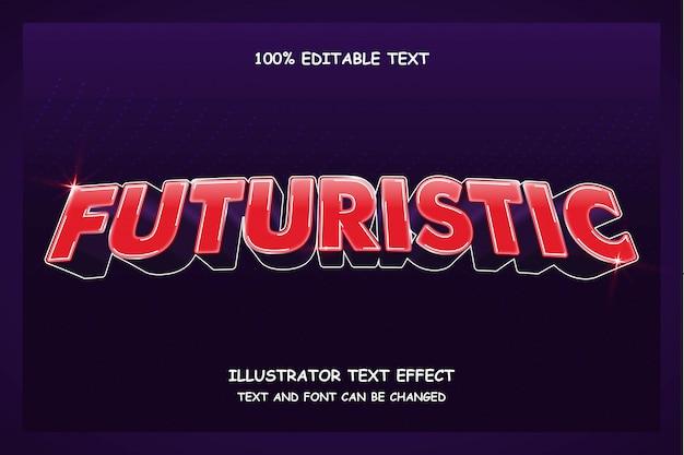 Futurista, 3d editável texto efeito moderno estilo de sombra