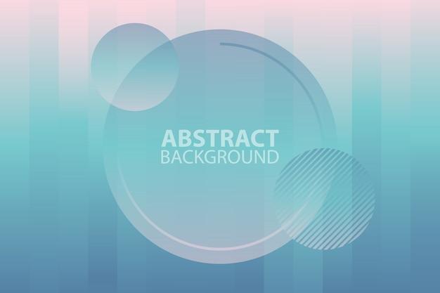 Futurista abstrato com formas simples e gradientes da moda.