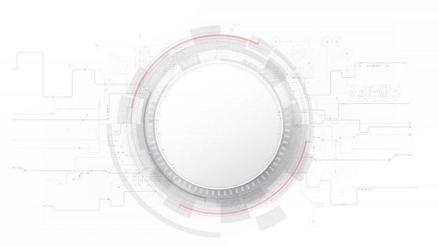 Futurista e tecnologia cinza com um fundo branco e abstrato