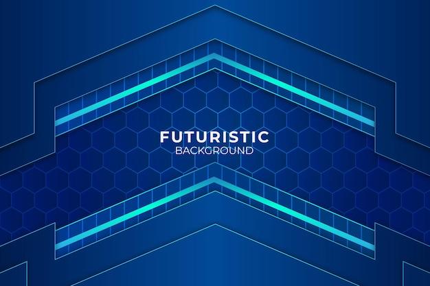 Futurista fundo azul