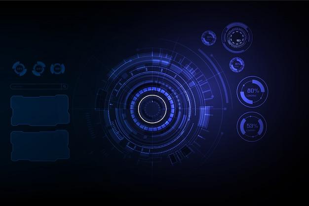 Futurista sci fi oi fundo de conceito de tecnologia