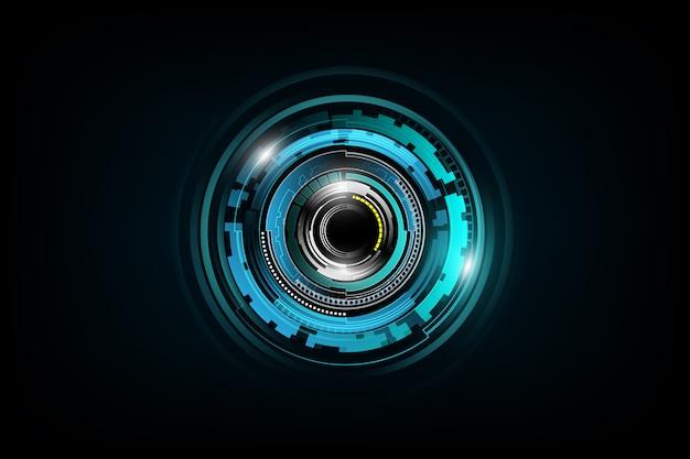 Futurista sci fi tecnologia conceito fundo