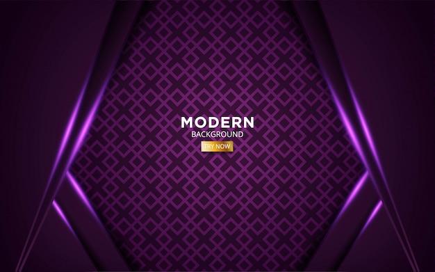 Futuro abstrato roxo fundo moderno com linha de luz roxa em geométrico.
