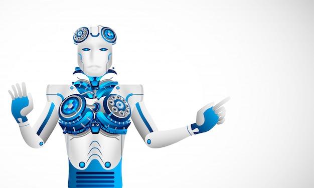 Futuro conceito de inteligência artificial.