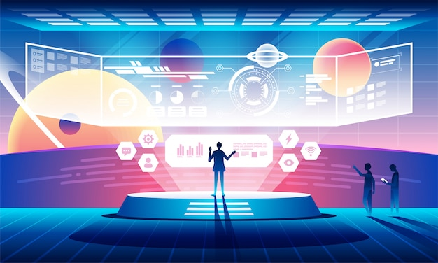 Futuro conceito de tecnologia