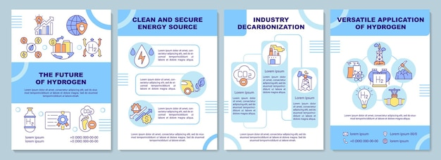 Futuro do modelo de folheto de hidrogênio. fonte de energia segura.