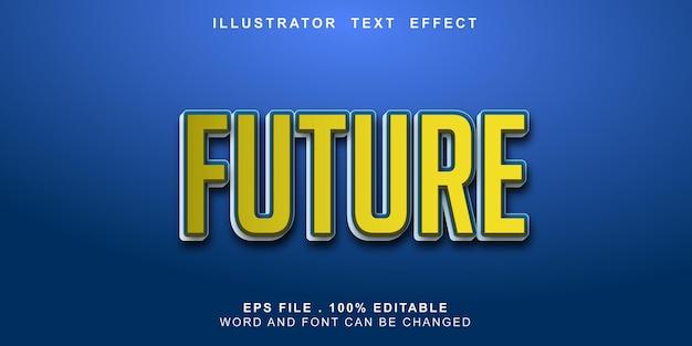 Futuro editável com efeito de texto