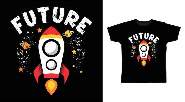 Futuro foguete para design de camisetas