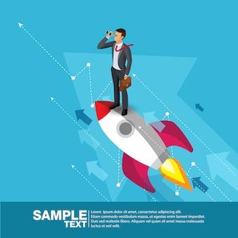 Futuro negócios líder conceito finanças