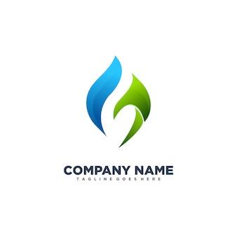 G logotipo moderno abstrato