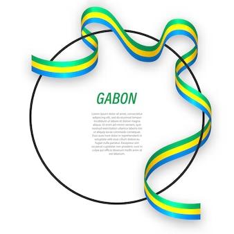 Gabão 3d com bandeira nacional.