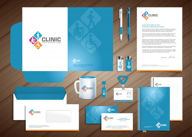 Gabinete de diagnóstico médico modelo de identidade corporativa