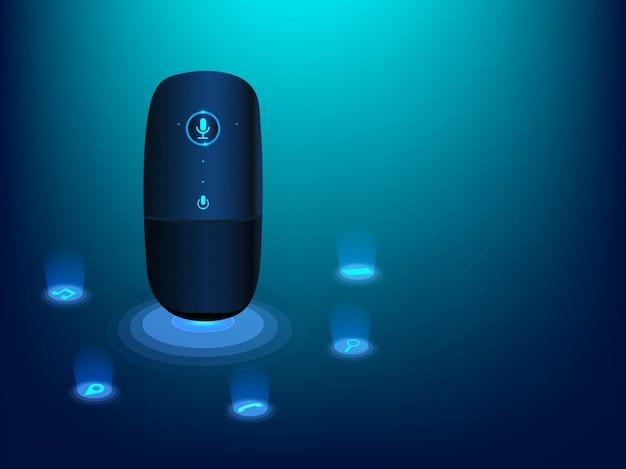 Gadget de reconhecimento de voz.