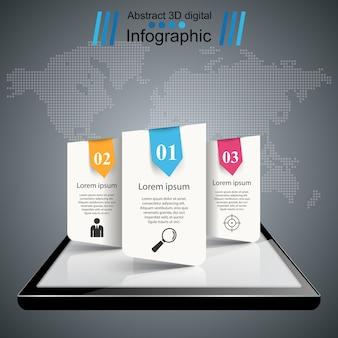 Gadget digital, tablet smartphone. infográfico de negócios.