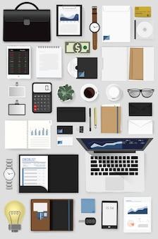Gadgets de ilustração vetorial de negócios