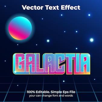 Galactia efeito de texto retro neon
