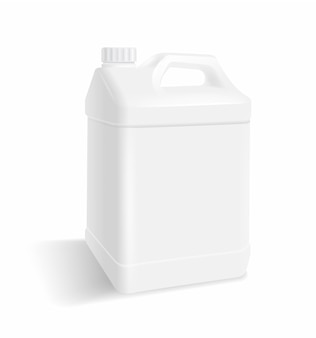Galão de plástico branco