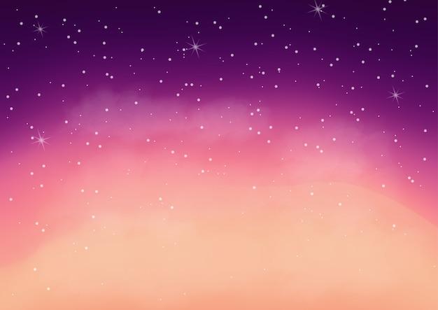 Galáxia colorida fantástica, abstrato cósmica