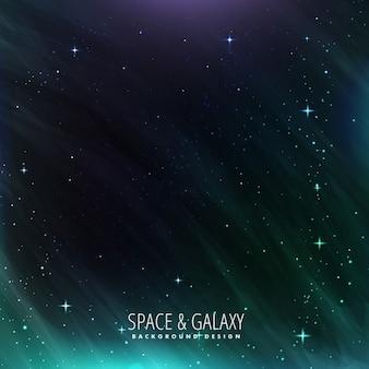 Galáxia e espaço de fundo
