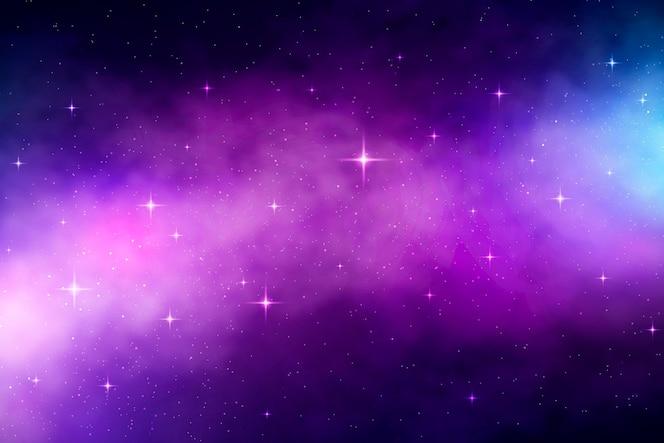 Galáxia gradiente com fundo de estrelas
