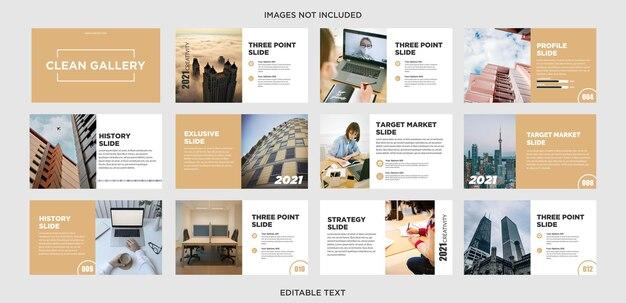 Galeria design de apresentação multiuso