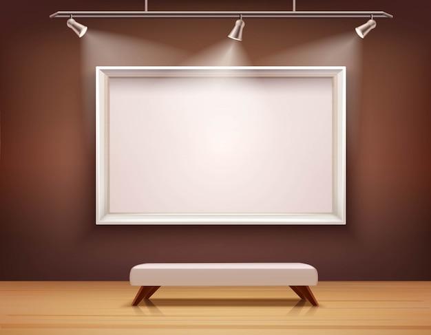 Galeria interior ilustração