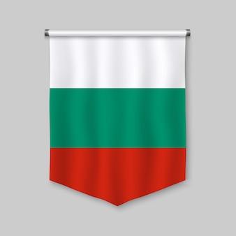 Galhardete realista 3d com bandeira da bulgária