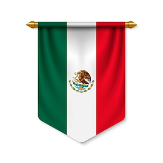 Galhardete realista 3d com bandeira