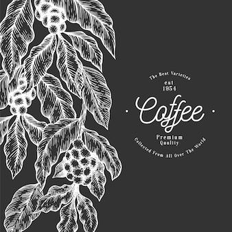 Galhos de árvores de café