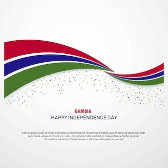 Gâmbia feliz dia da independência fundo