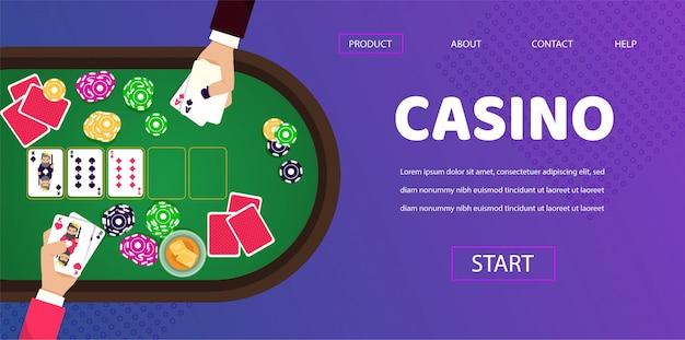 Gambling table casino jogador homem croupier mãos