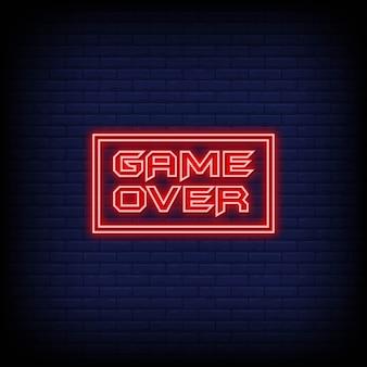 Game over estilo neon