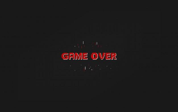 Game over pixel art design isolado no fundo. pixel art para design de jogos.