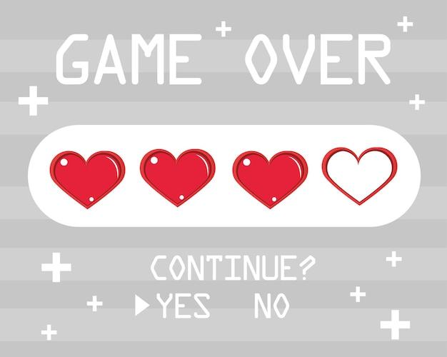 Game over vidas