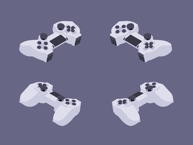 Gamepad branco isométrico