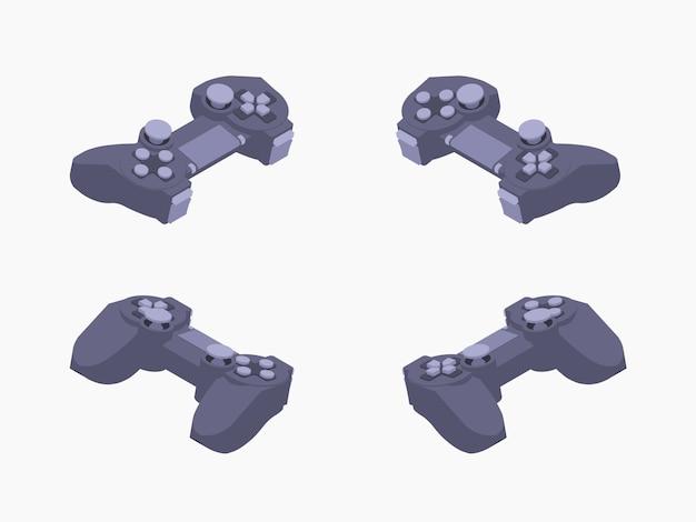 Gamepad preto isométrico