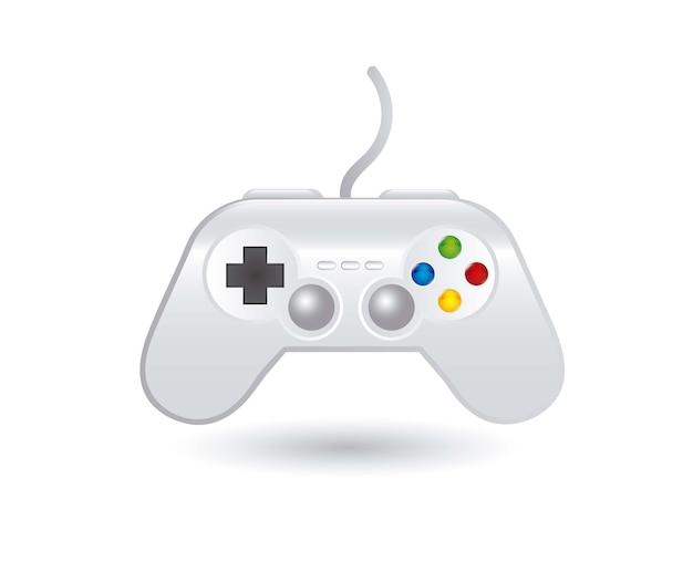 Gamepad sobre ilustração vetorial de fundo branco