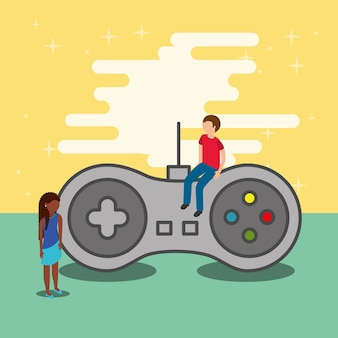 Gamers e controle de videogame