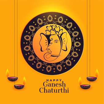 Ganesha artístico do senhor para o festival do chaturthi do ganesh