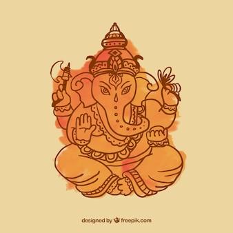 Ganesha watercolor