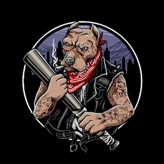 Gangster do cão doberman