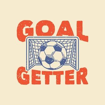 Ganhador de gols de tipografia slogan vintage