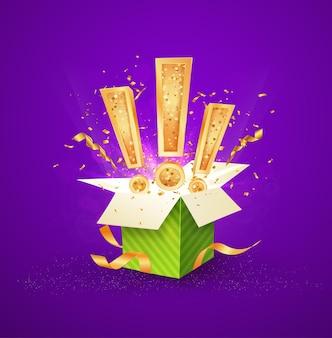 Ganhe uma caixa de presente de prêmio