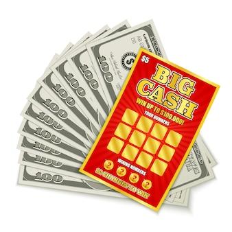 Ganho em dinheiro na loteria