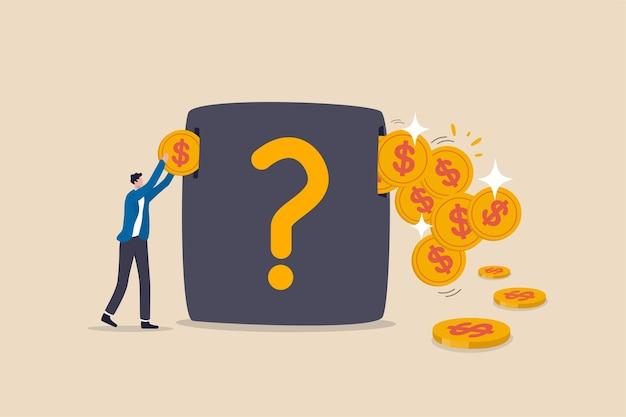Ganhos de investimento, economizando dinheiro no mercado de ações em crescimento com alto retorno de ganho de capital ou conceito de dividendo