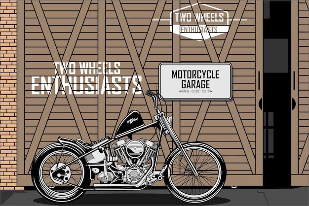 Garagem a da motocicleta