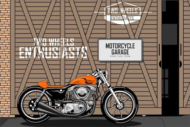 Garagem b da motocicleta