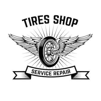 Garagem. estação de serviço. reparo de carros. elemento para o logotipo, etiqueta, emblema, sinal. ilustração
