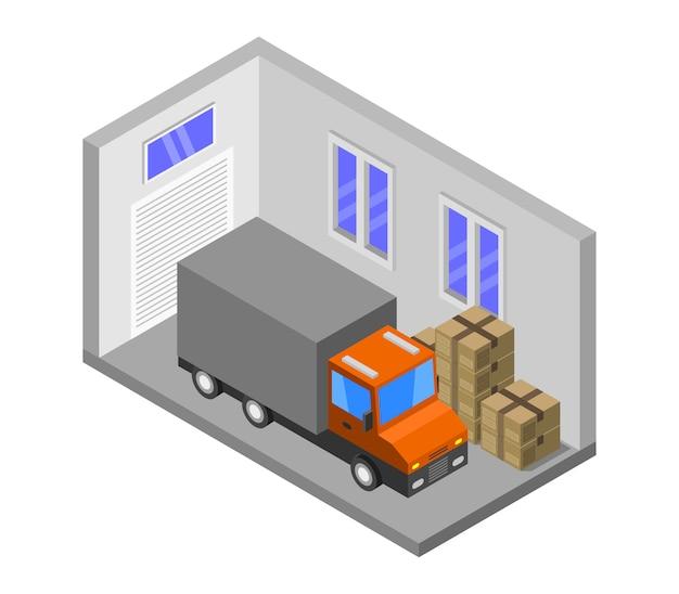 Garagem isométrica