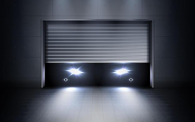 Garagem mínima metálica para carros